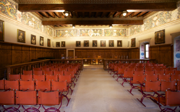 Dimore-storiche-Palazzo-Magnifica-Comunità-di-Fiemme-Val-di-Fiemme-salone-clesiano